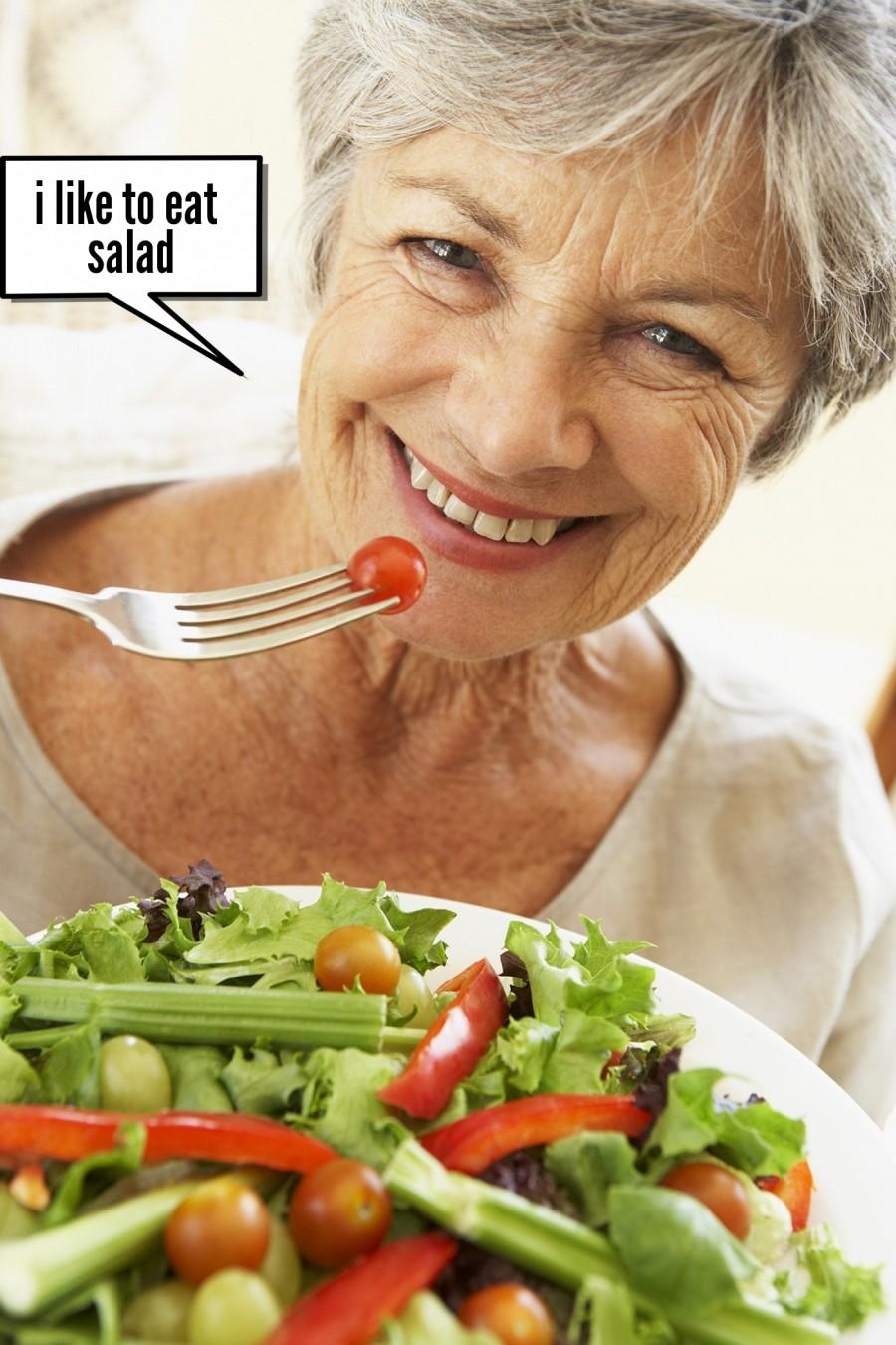 i like to eat salad    phrase.it