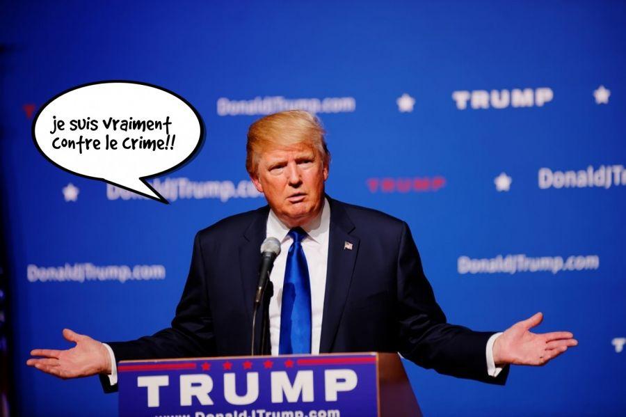 je suis vraiment contre le crime!!  | phrase.it