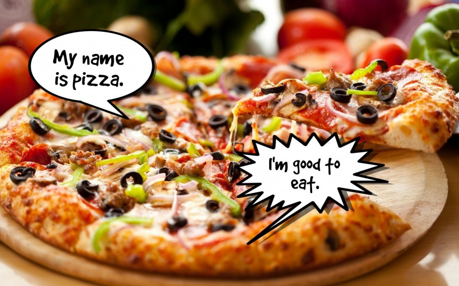 My name is pizza.  | phrase.it