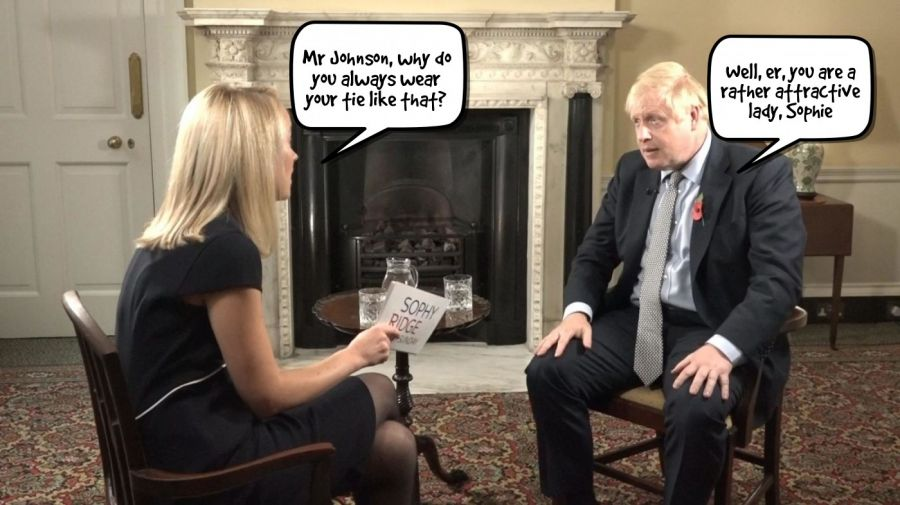 Mr Johnson, why do you always wear your tie like that?  | phrase.it