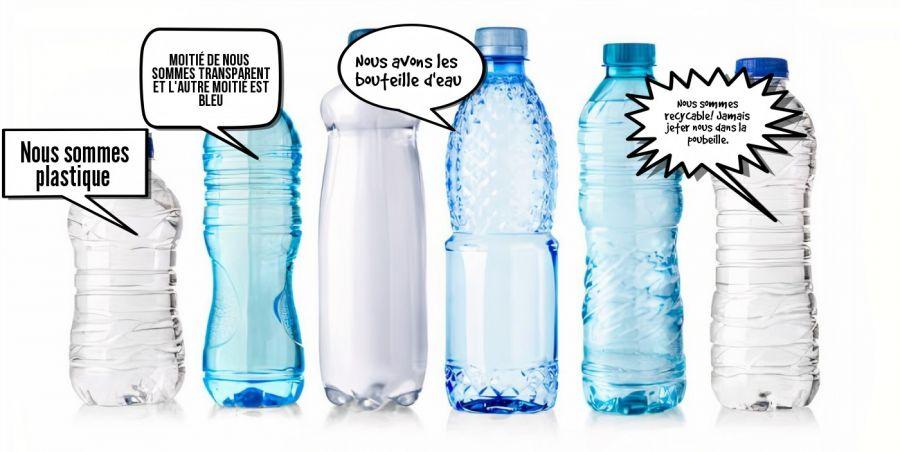 Nous avons les bouteille d'eau  | phrase.it