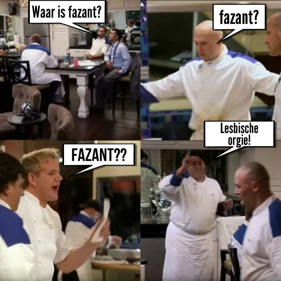Waar is fazant?  | phrase.it