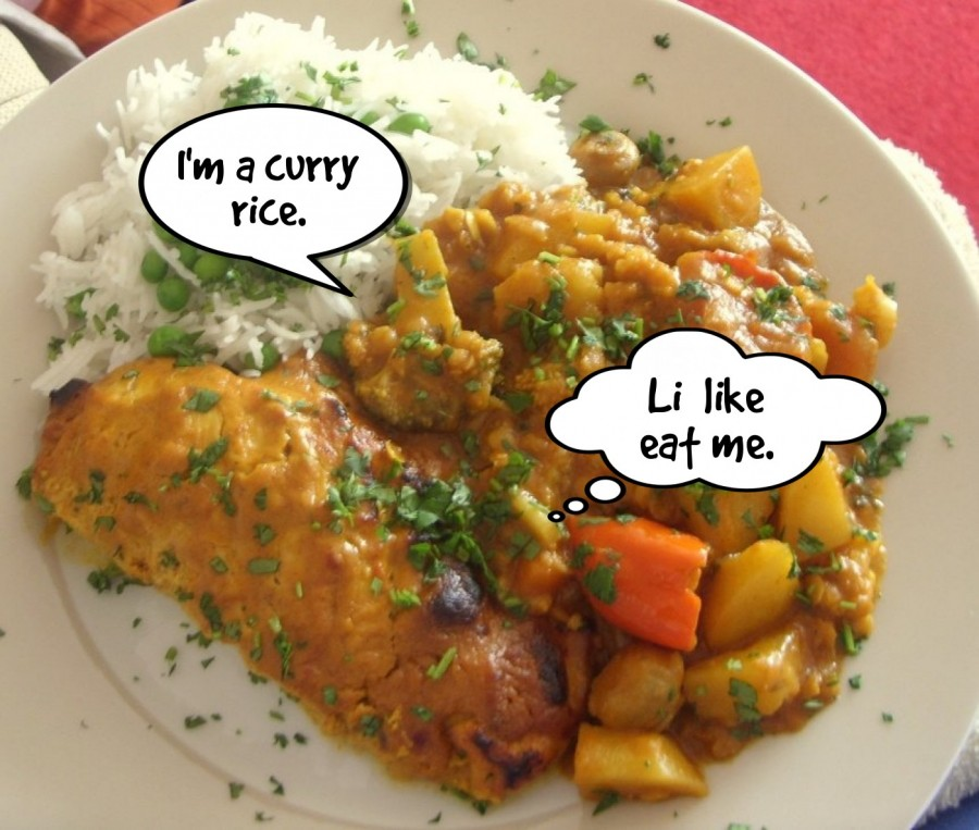 I'm a curry rice.  | phrase.it