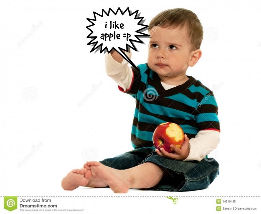 i like apple =p  | phrase.it